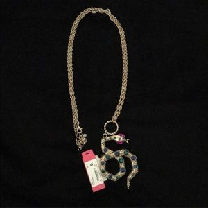 Betsey Johnson Jewelry - ⚡️Betsey Johnson Rhinestone Snake Necklace